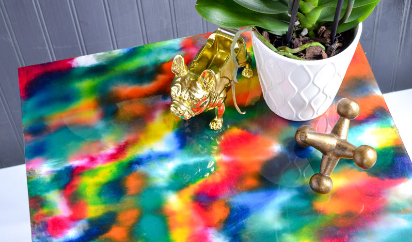 Glaze Coat Project: Watercolor Side Table
