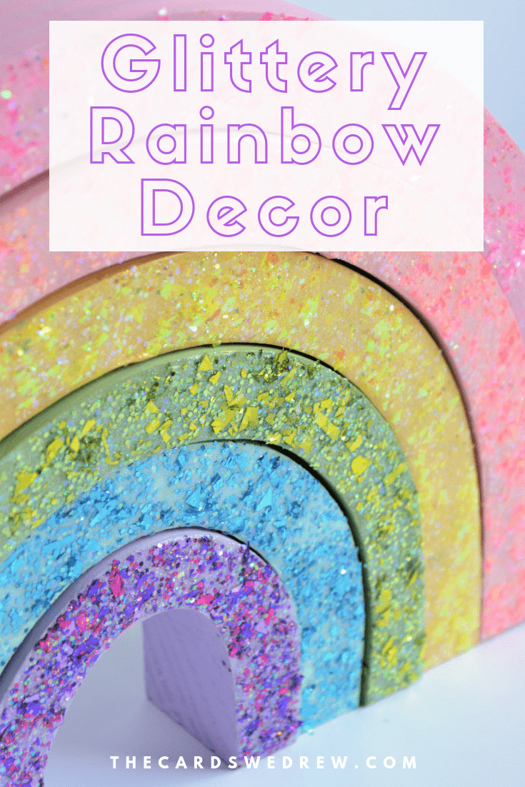 Glittery Rainbow Decor