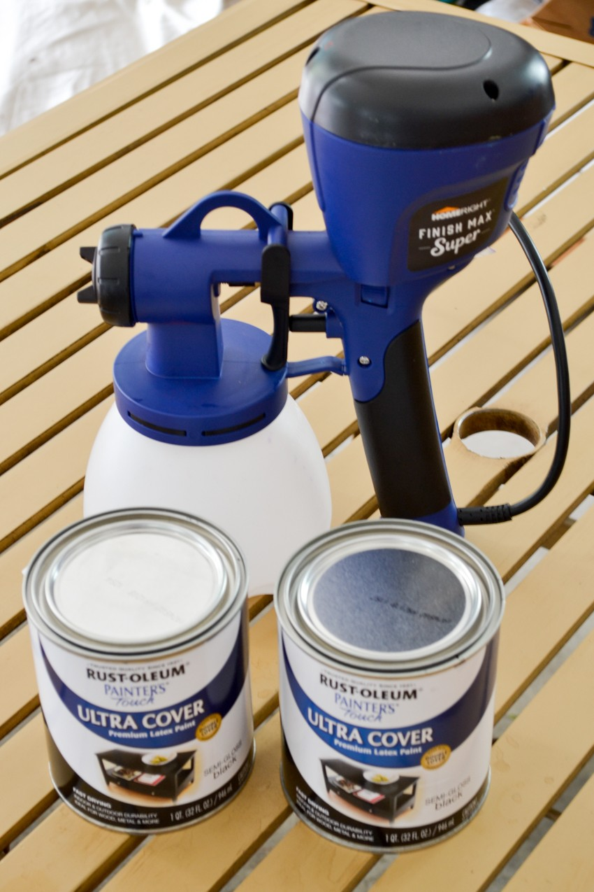 spraying patio furniture