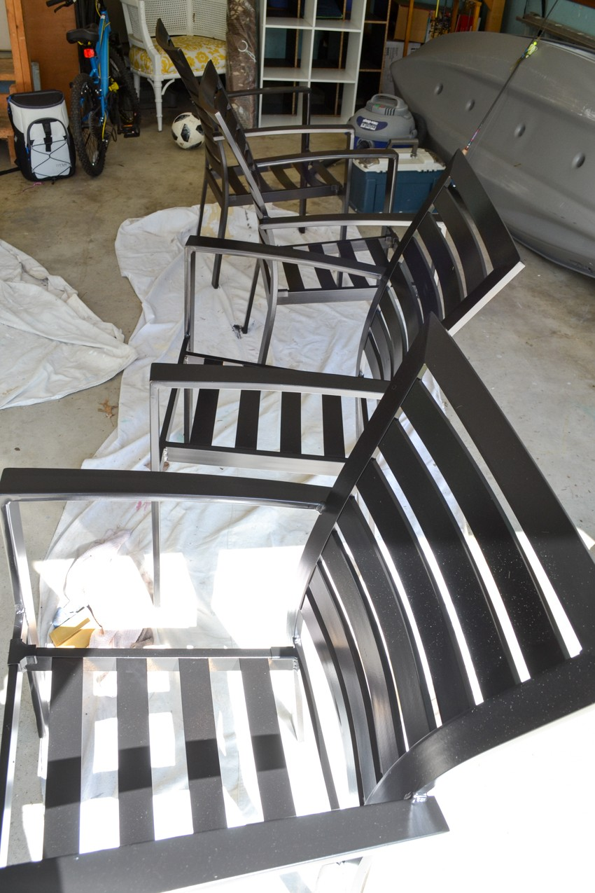 painted patio chairs