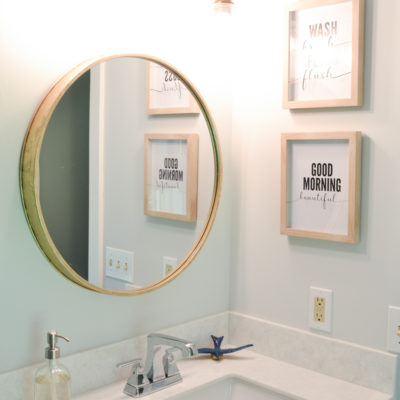 Navy Blue and White Master Bathroom Makeover