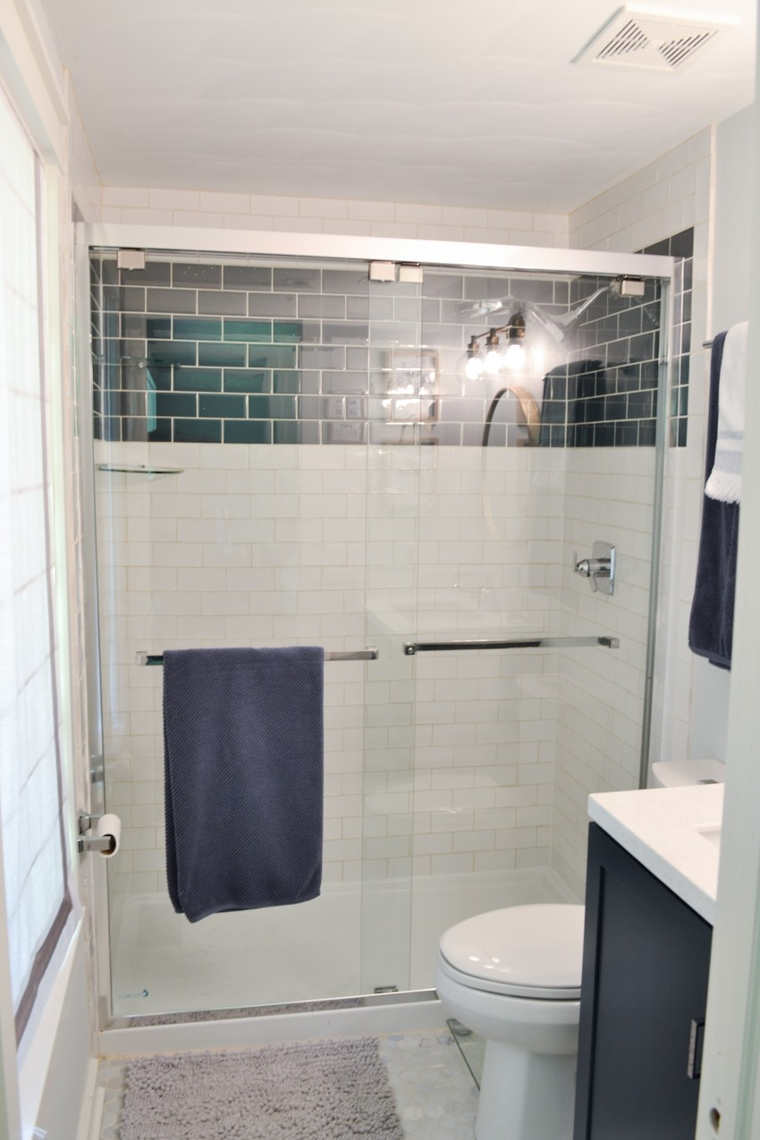 master bathroom makeover after
