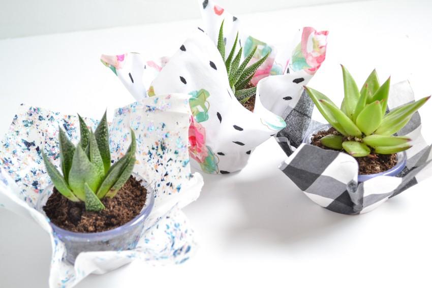 fabric vases