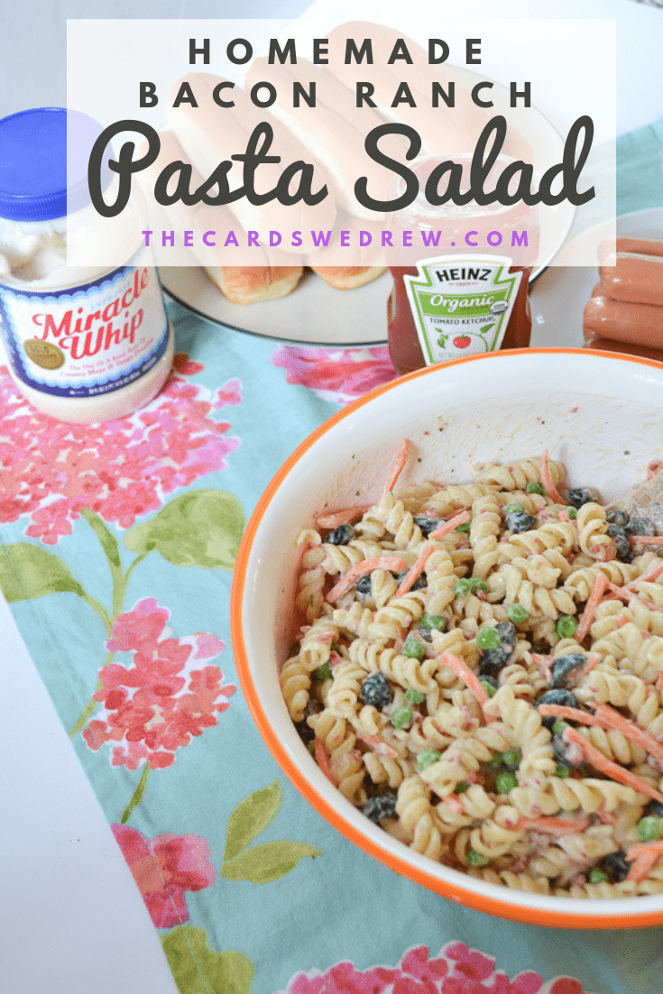 Homemade Bacon Ranch Pasta Salad