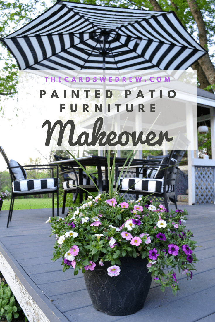 Painted Patio Furniture Makeover