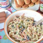 The Best Bacon Ranch Pasta Salad