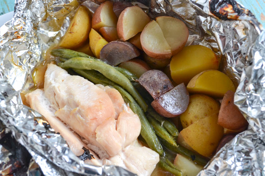 Chicken Potato and Veggie Foil Packets