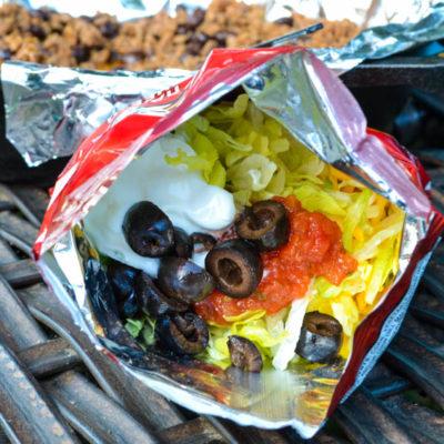 Easy Camping Dinner Idea: Walking Tacos