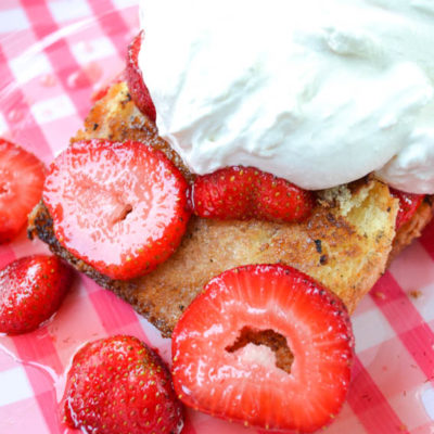 Brown Butter Grilled Strawberry Shortcake