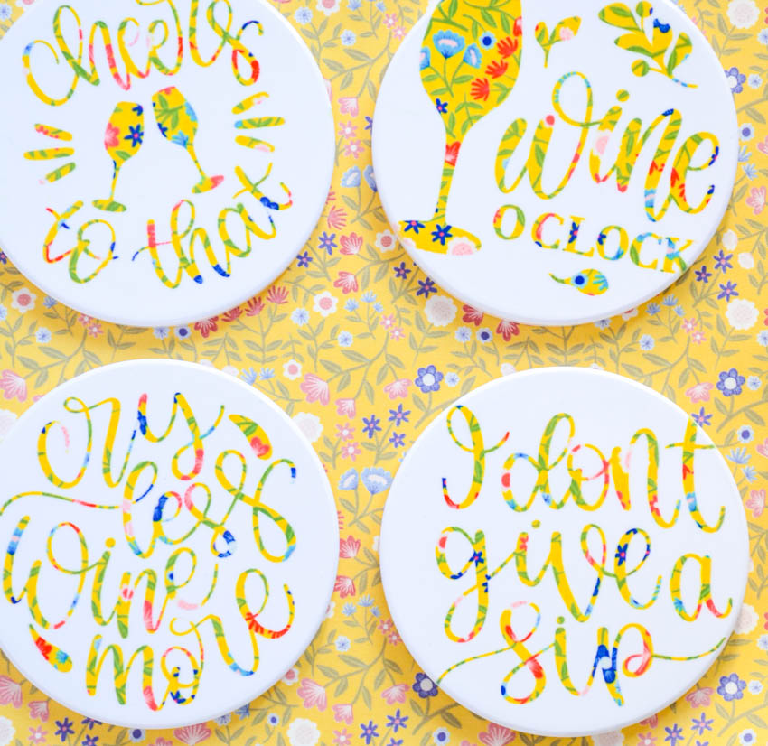 Cricut Infusible Ink Coaster Projects