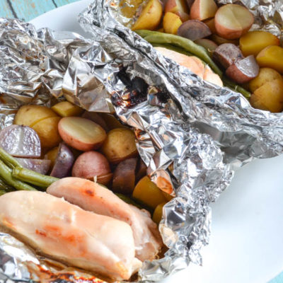 Garlic Chicken and Potato Foil Packets