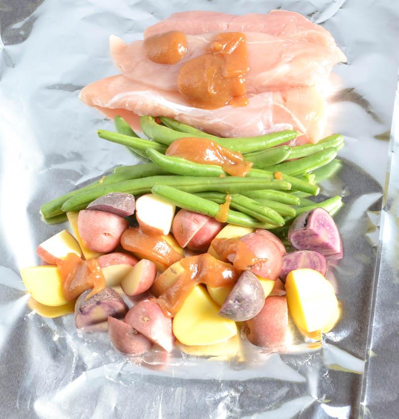 chicken and veggie packets