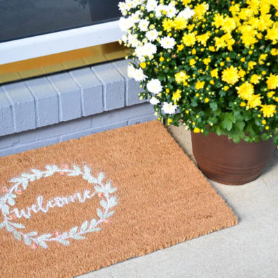 DIY Fall Front Door Mat