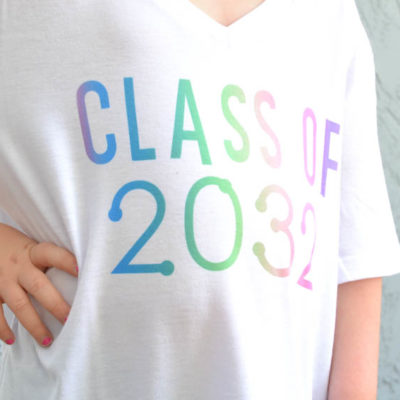 DIY Class of 2032 Grow with Me Shirt (Cricut + Back to School)