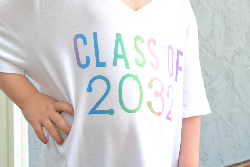infusible ink back to school shirt