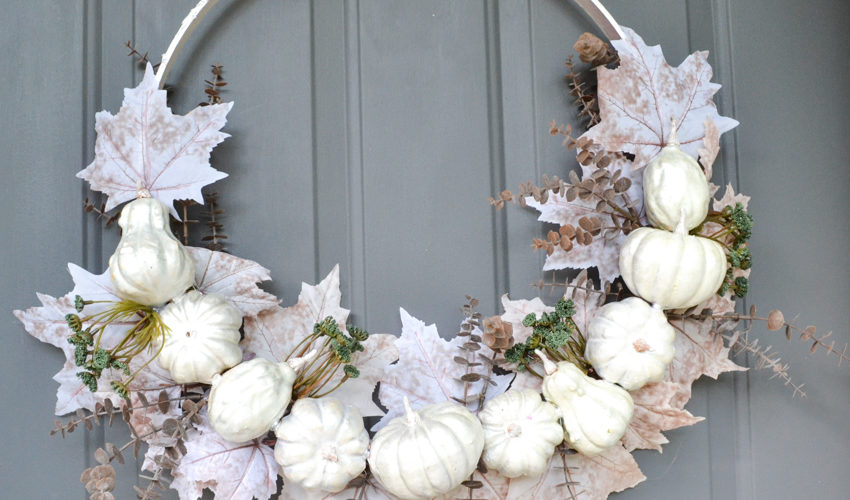 DIY Upcycled Pumpkin Wreath