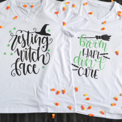 DIY Cricut Halloween Shirts for Witches