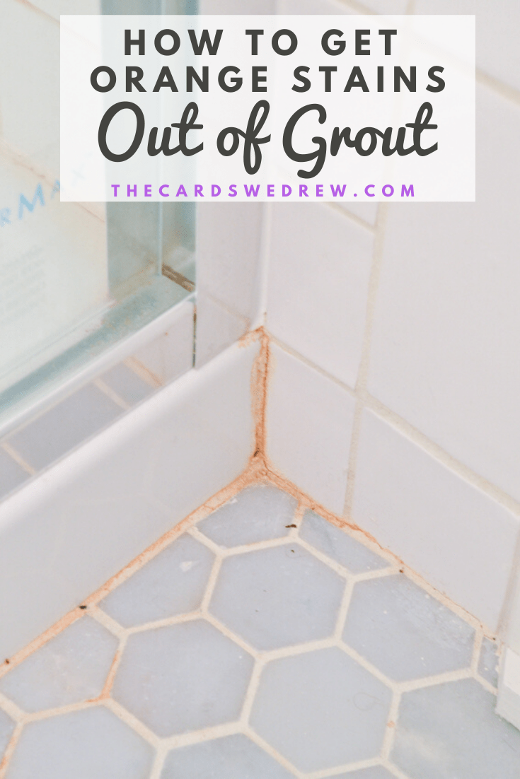 How to Get Orange Stains out of Grout