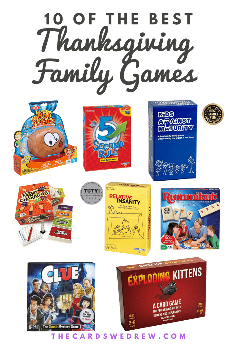 10 Best Thanksgiving Family Games