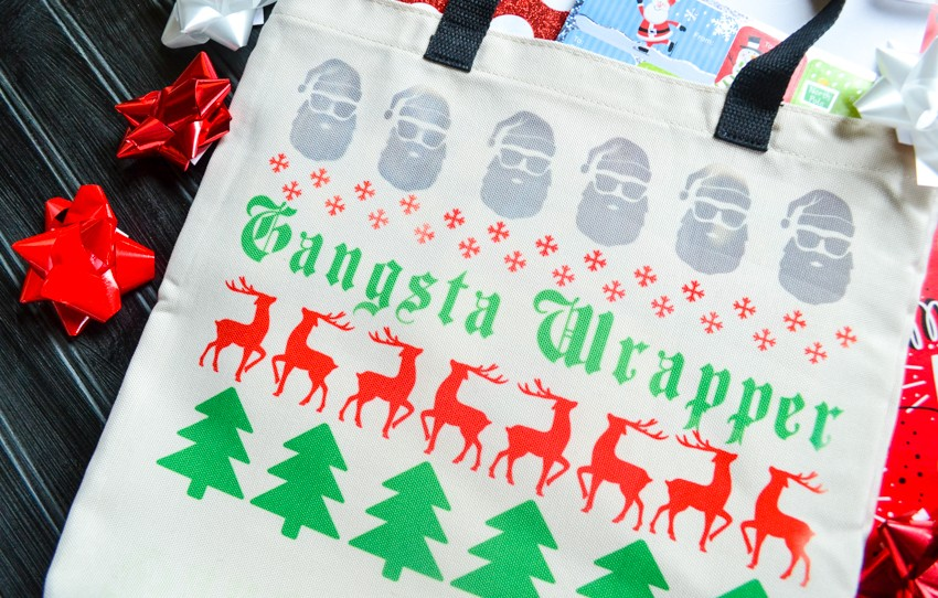 funny gangsta wrapper holiday gift bag white elephant