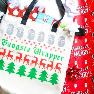 """Gangsta Wrapper"" Holiday Gift Bag"
