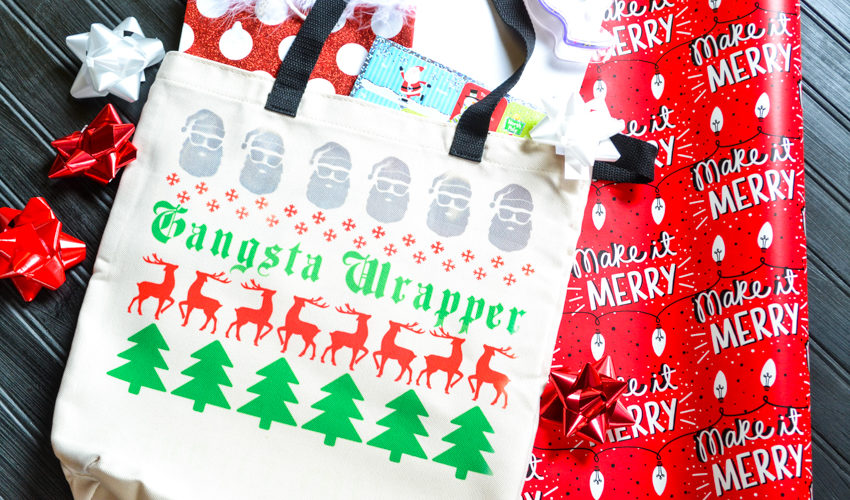 """Gangsta Wrapper"" Holiday Gift Bag"