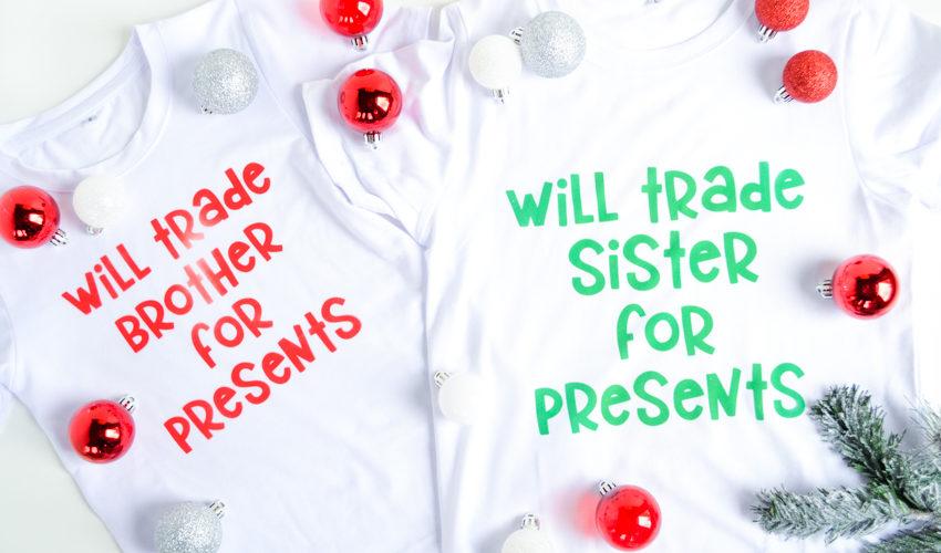 Brother and Sister Christmas Shirts