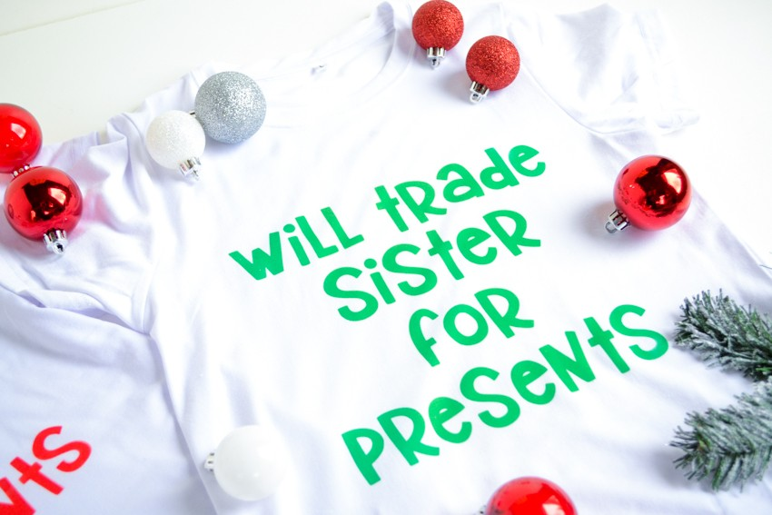 sibling Christmas shirts