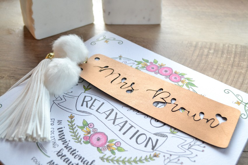 leather bookmark with cricut