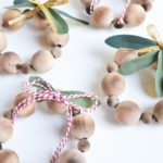 DIY Christmas Ornaments: Mini Wood Bead Ornaments