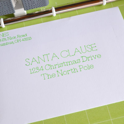 How to Address Envelopes using the Cricut