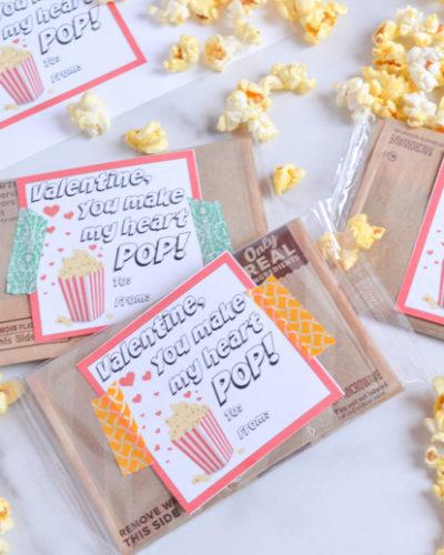 Free Popcorn Valentine with Printable