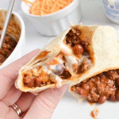 3-Ingredient Chili Colorado Burritos