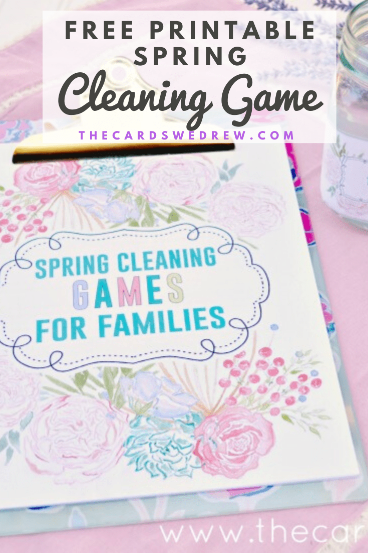 Free Printable Spring Cleaning Game