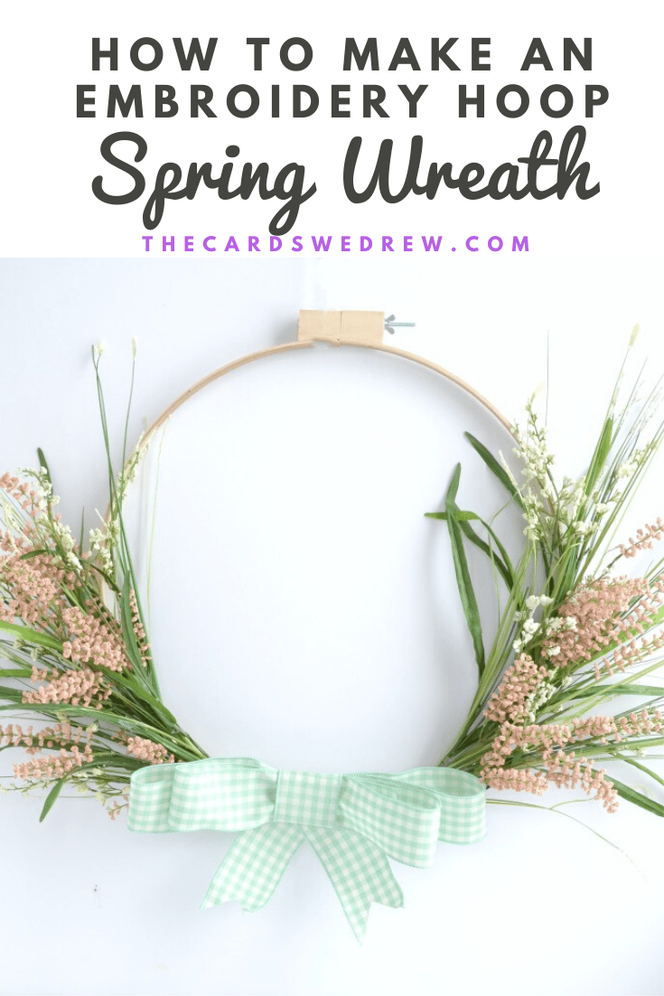 How to Make an Embroidery Hoop Spring Wreath