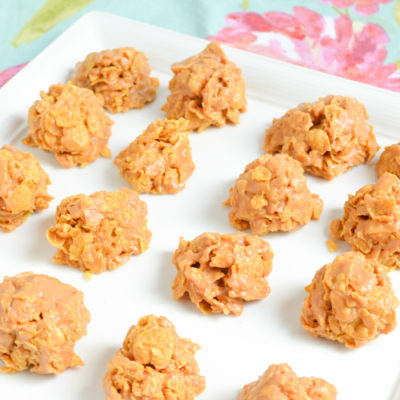No-Bake Peanut Butter Cornflake Cookies