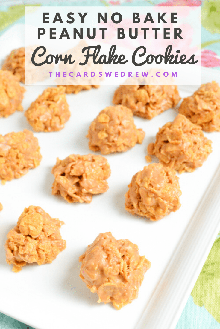 Easy No Bake Peanut Butter Corn Flake Cookies
