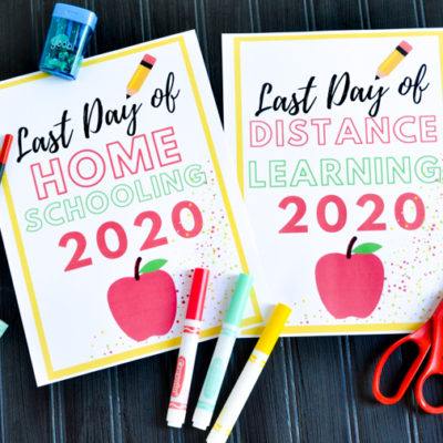 Last Day of School 2020 Printables {Distance Learning Edition}