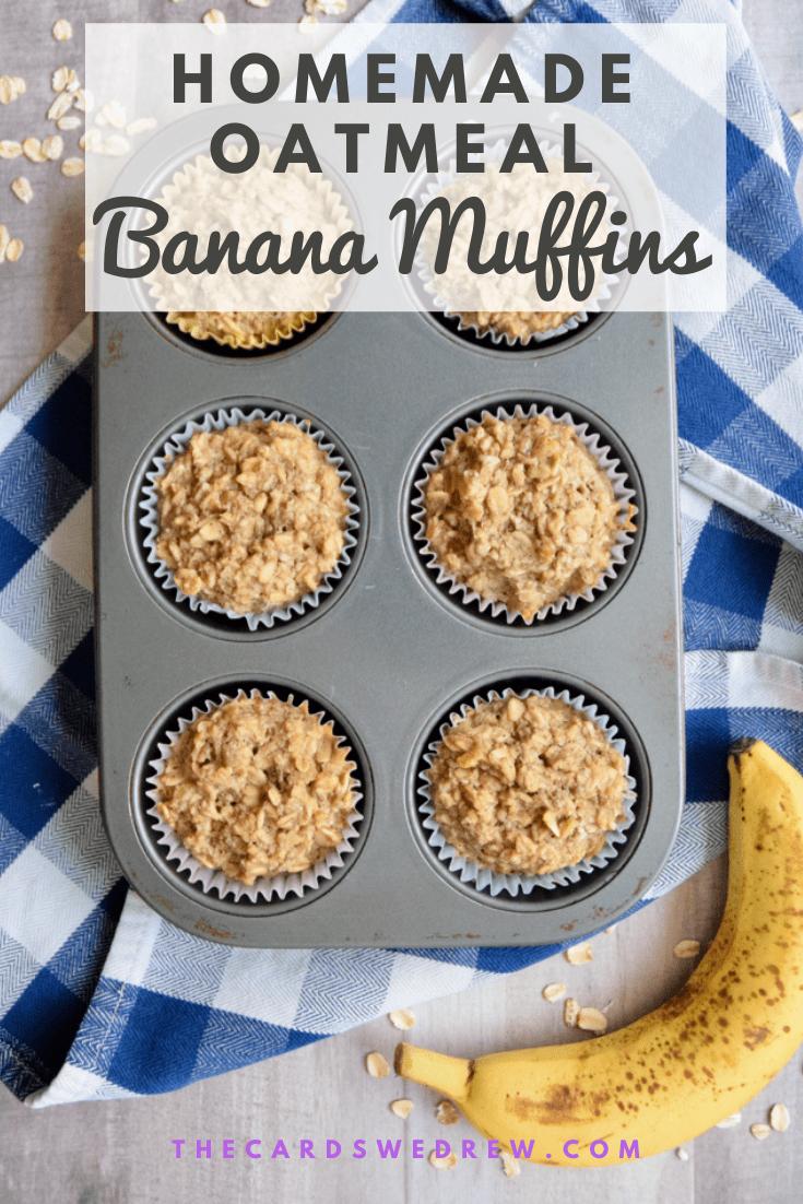 Homemade Oatmeal Banana Muffins