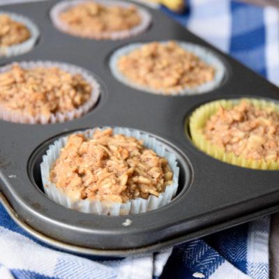 Homemade Banana Oatmeal Muffins