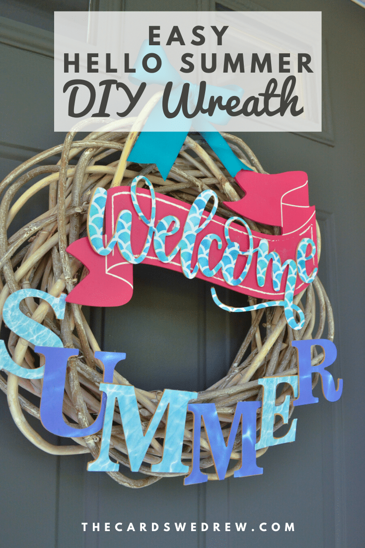 EASY HELLO SUMMER DIY WREATH