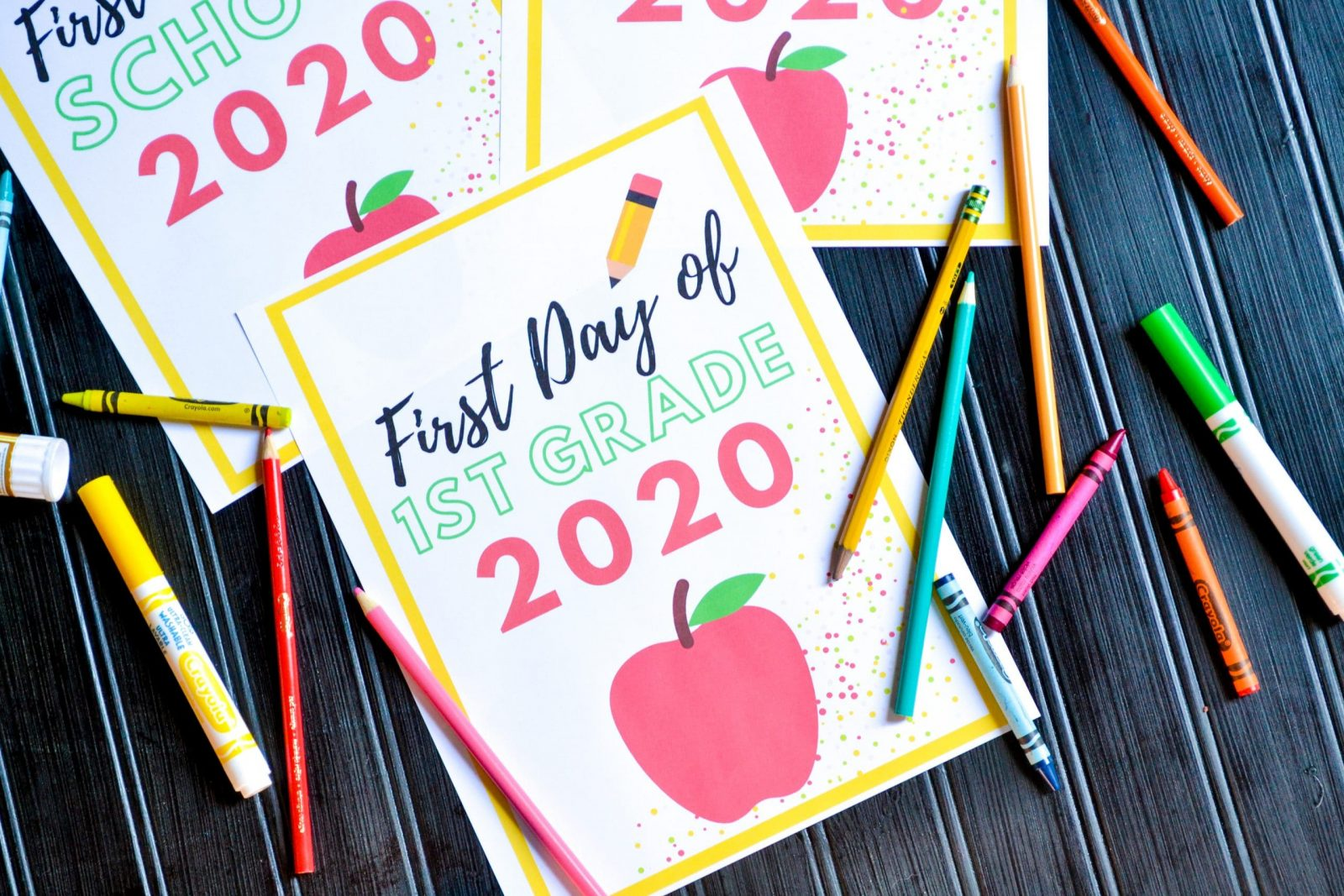 free printable first day of school signs 2020-2021
