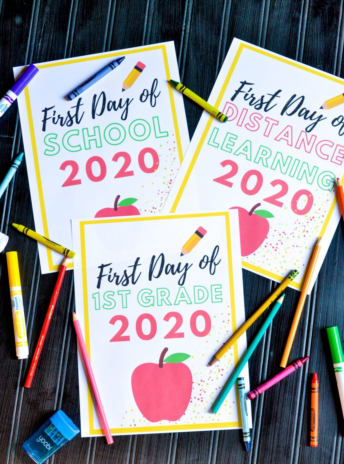 first day of school printable 2020