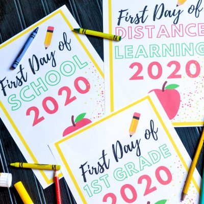First Day of School 2020 Free printables