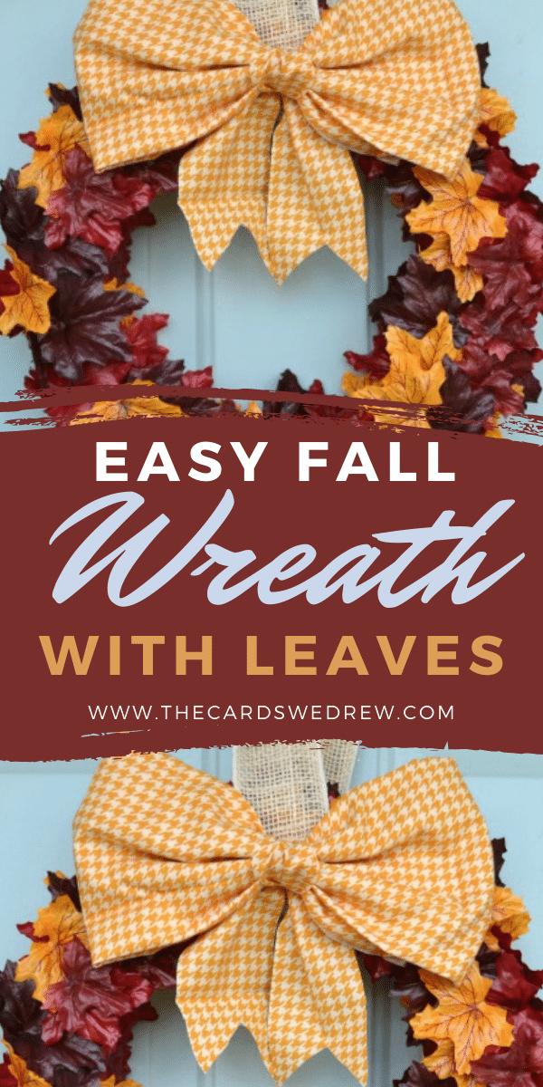 Easy Fall Leaf Wreath