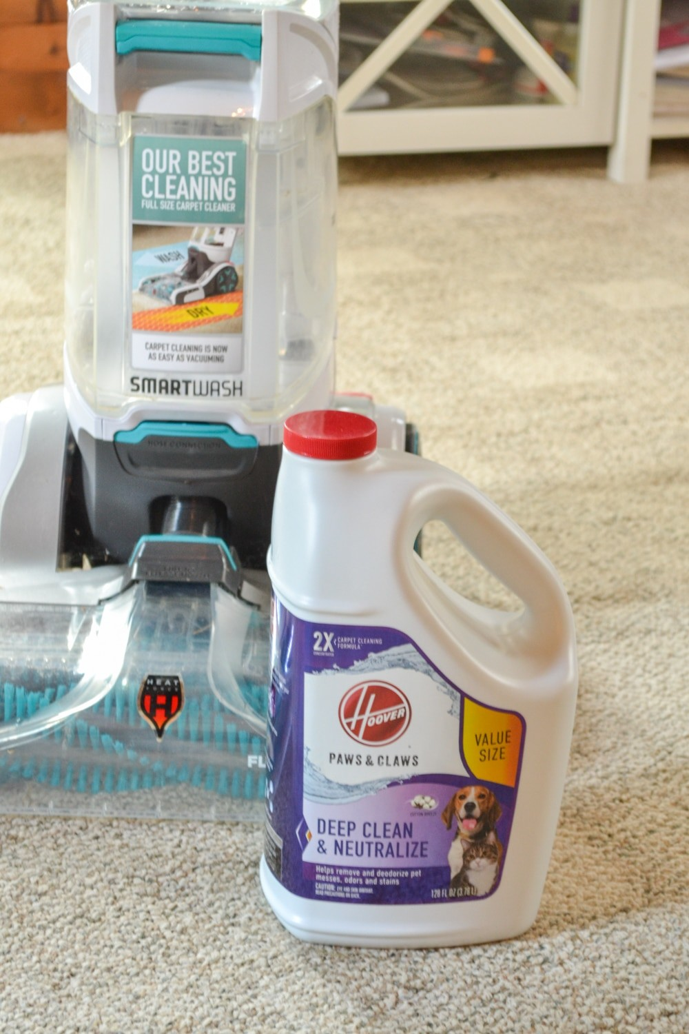 Hoover smartwash cleaning solution
