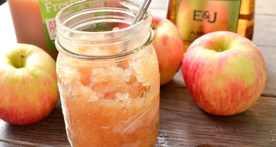 Boozy Apple Cider Slushie {3 ingredient}