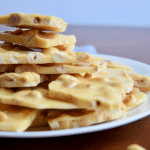 old fashioned peanut brittle on a plate