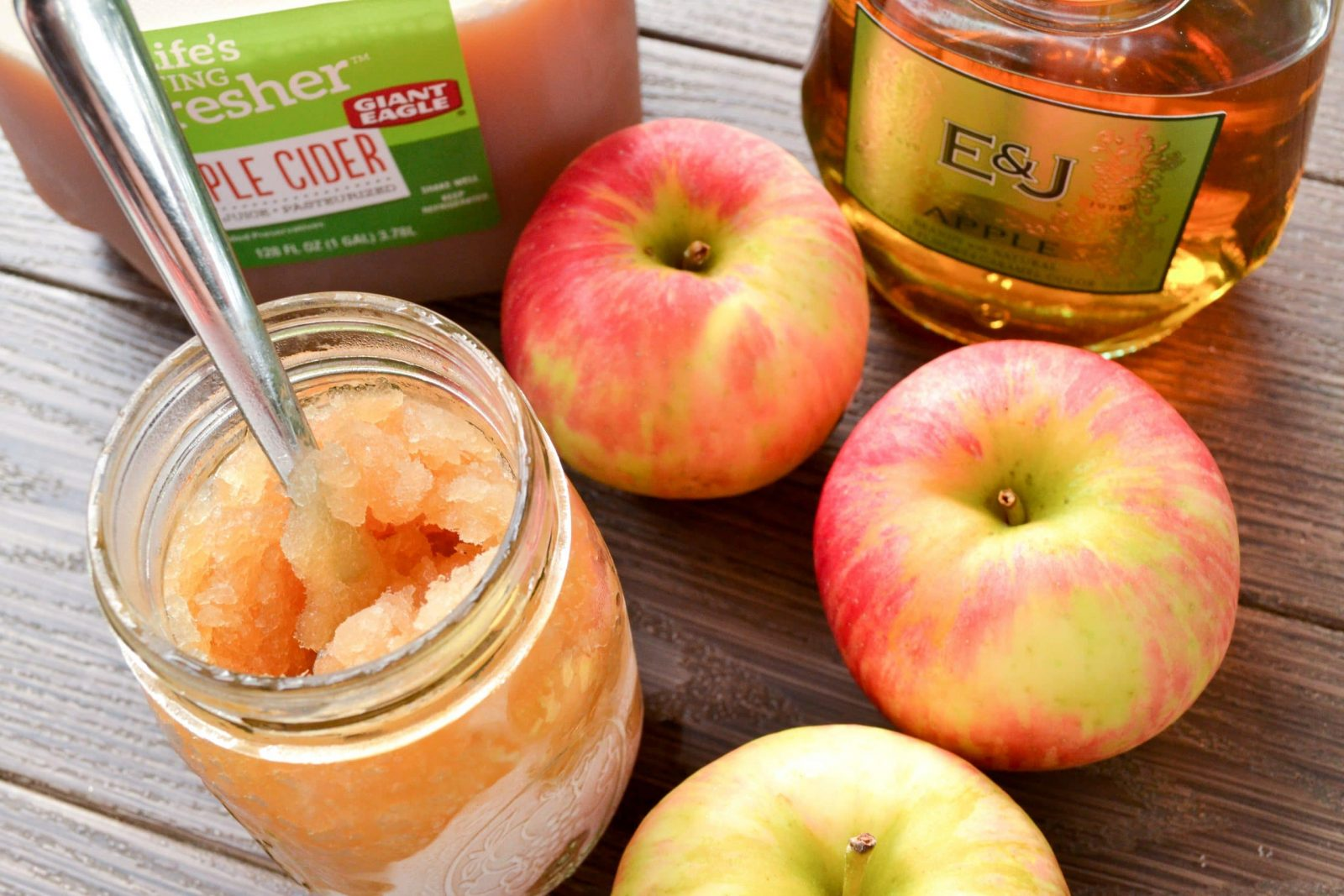 spiked apple cider slushie