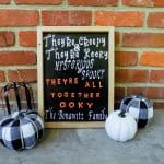 DIY Addams Family Sign for Halloween